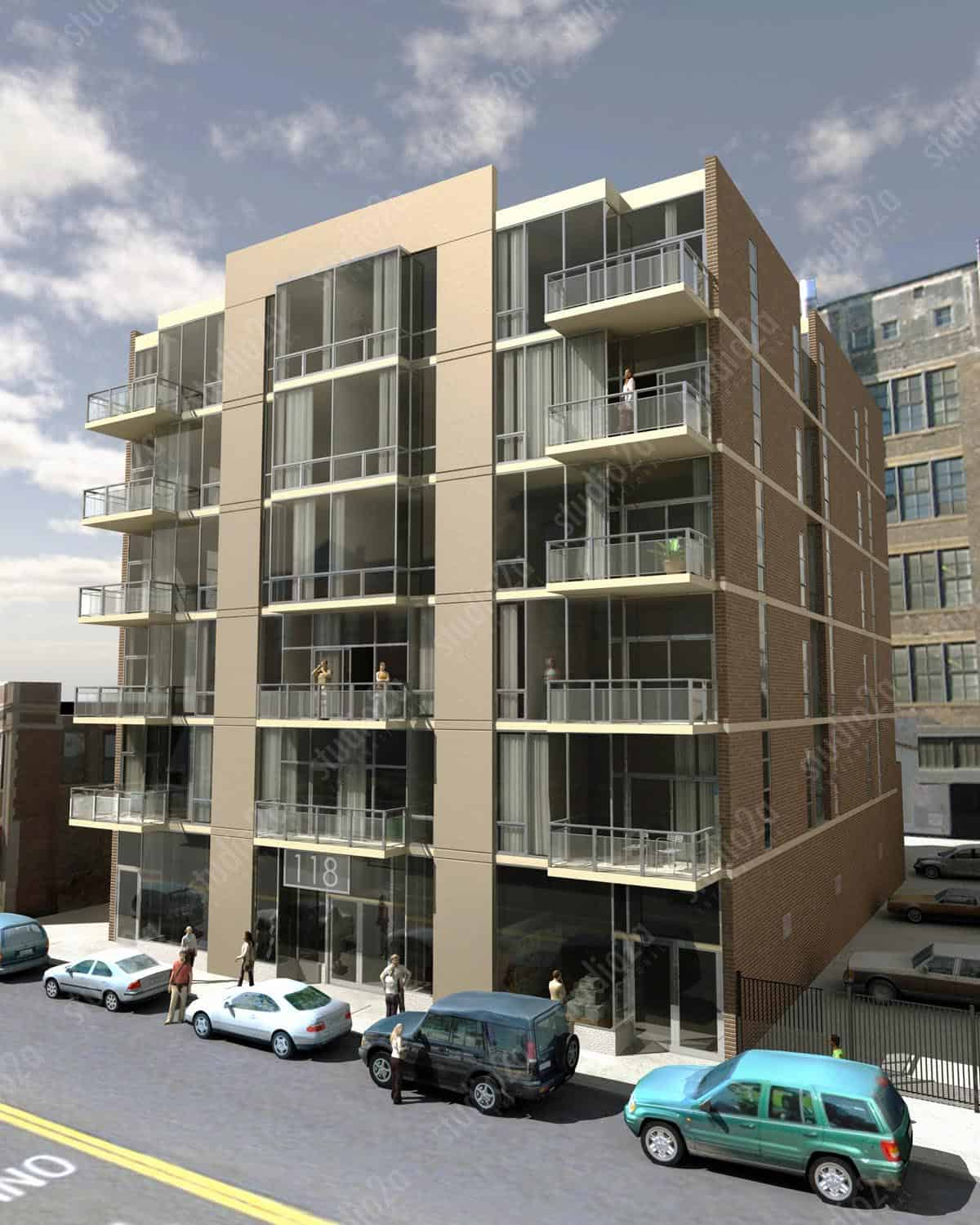 3d rendering condo halsted chicago