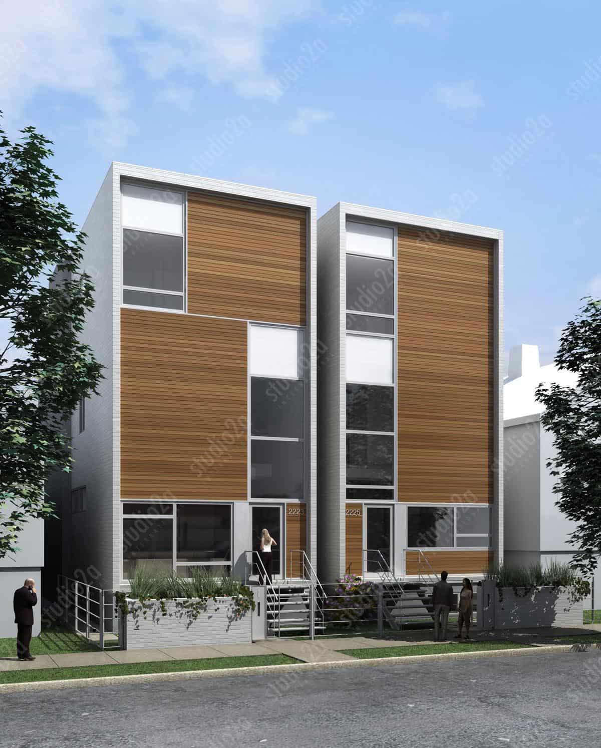 3d architectural rendering exterior Chicago