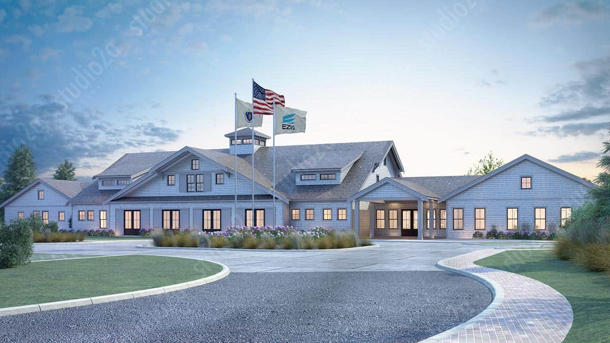 3D architectural exterior rendering Commercial Building