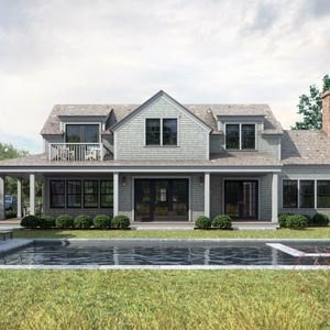 3d architectural rendering residential Nantucket Island