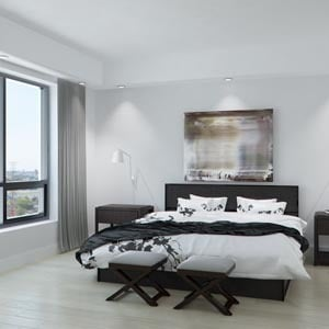 3D interior renderings of a chicago condo