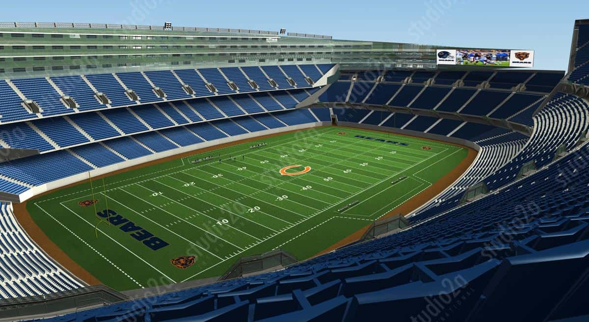 3d architectural rendering stadium chicago bears