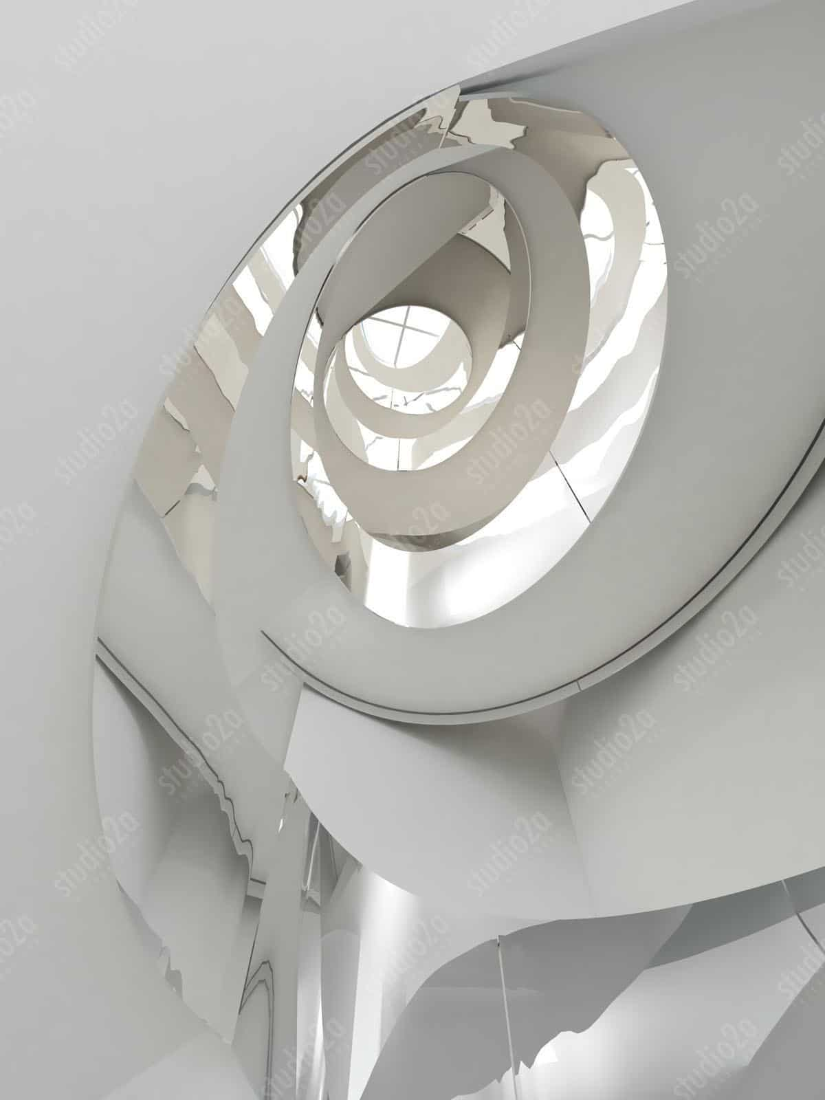 3d interior design stair rendering NYC NY