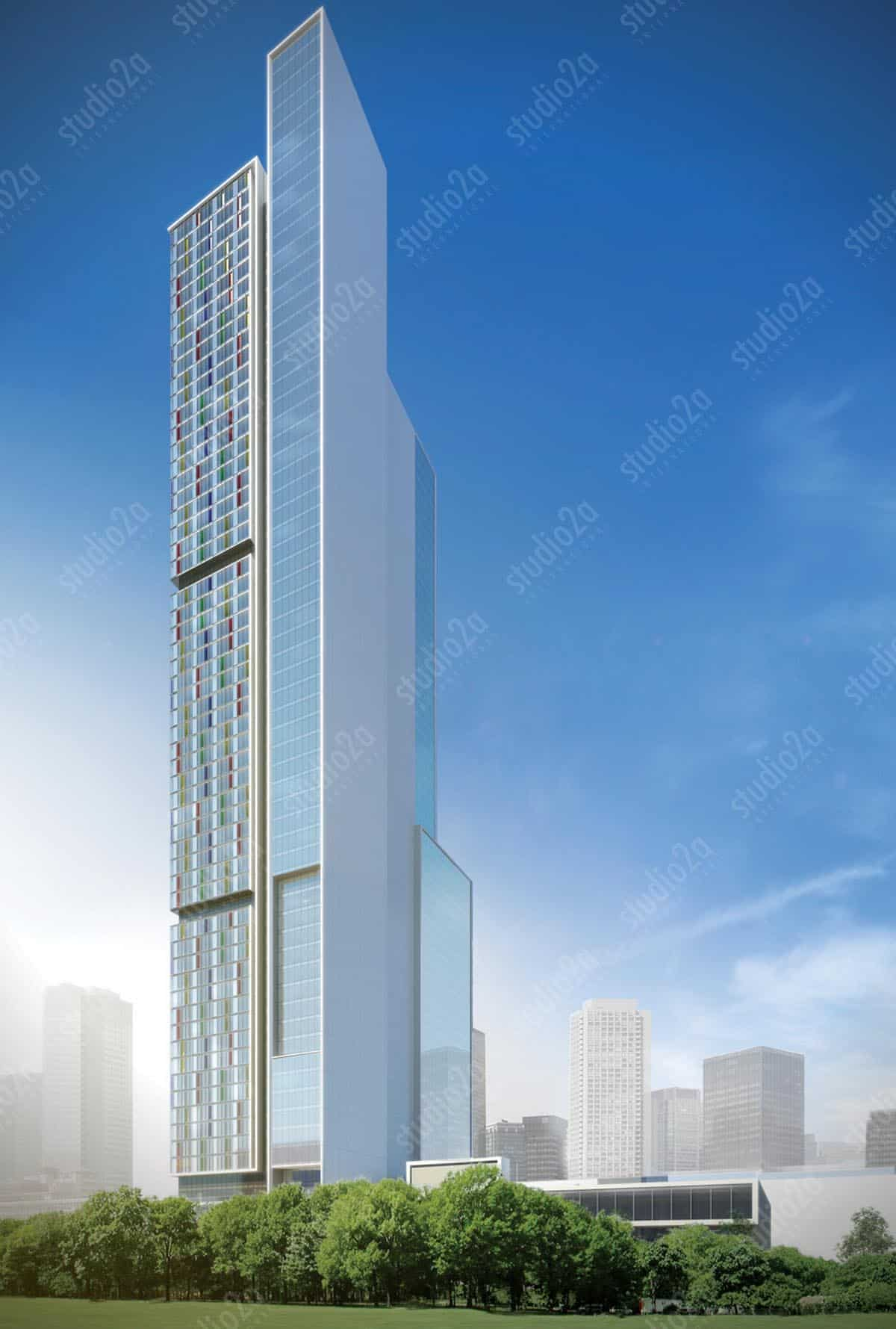 3d concept rendering architectural high-rise NY
