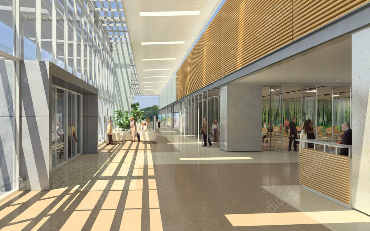 3d rendering animation for architects designers hospital for Architectural interior rendering