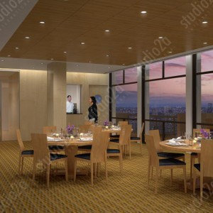3d architectural rendering condo penthouse lounge NYC NY