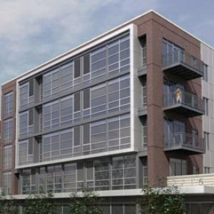 3d rendering mid-rise residential Chicago West Side