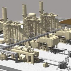 3d architectural exterior rendering for engineering of power plant