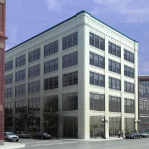 3d exterior rendering South Loop Chicago