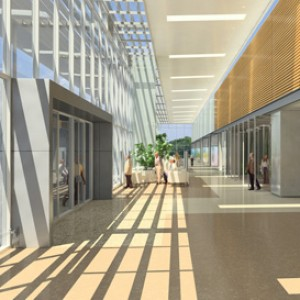 3d architectural rendering interior hospital