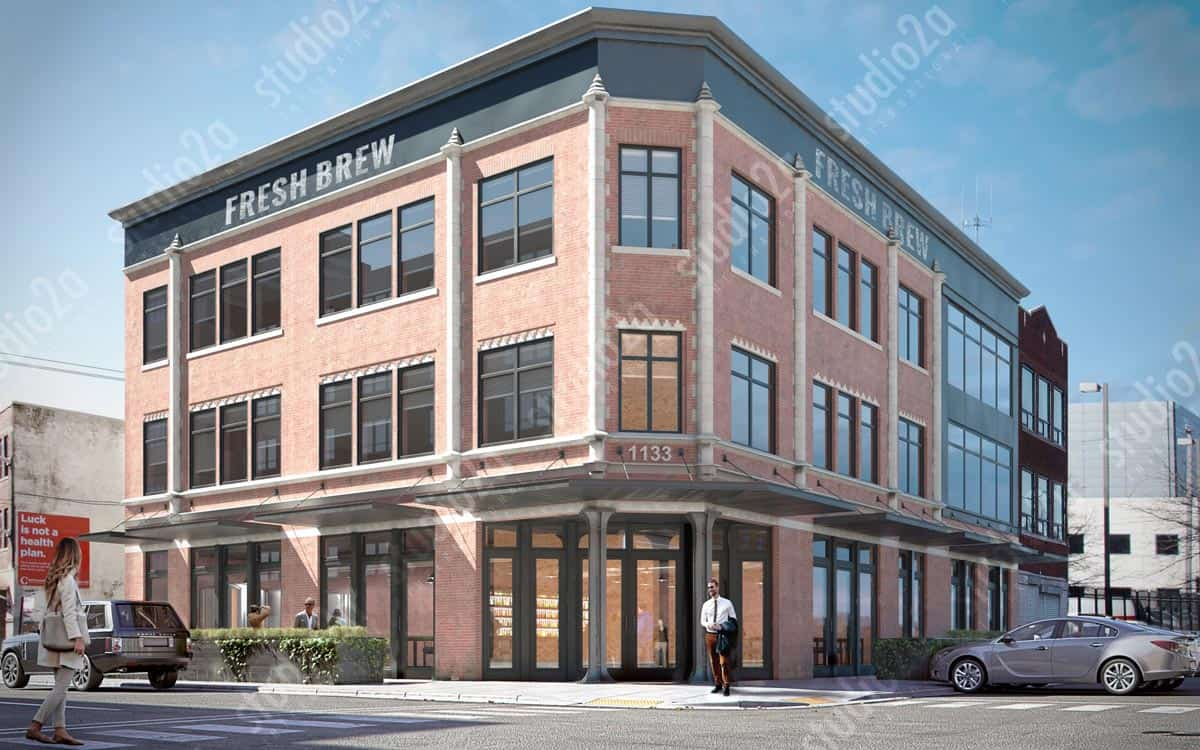 3d rendering west loop chicago exterior