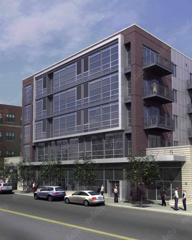 Condo pre-sales rendering Chicago West Side