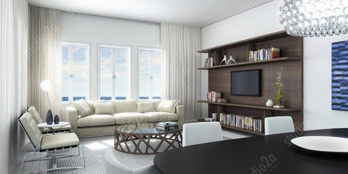 3d Rendering Interior Condo Design