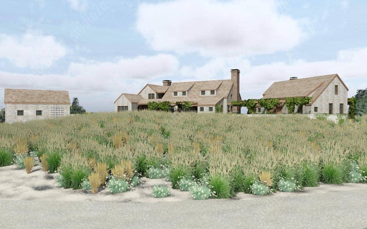 3d rendering beach house nantucket