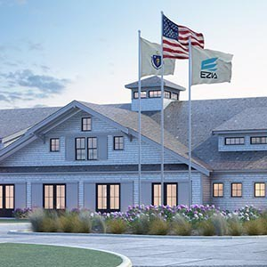 Ezia Nantucket 3d rendering exterior
