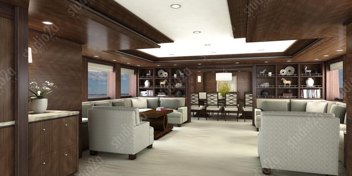3d rendering for custom yacht design
