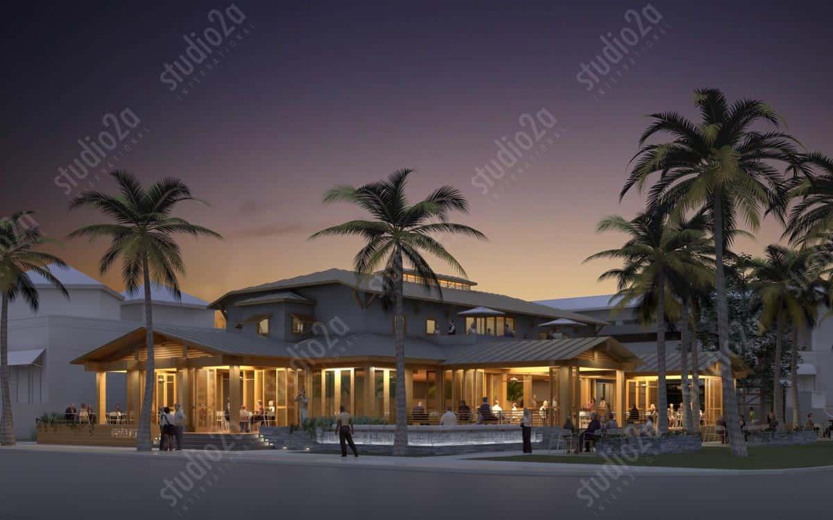 Design concept 3d rendering restaurant design for Architectural concepts for restaurants