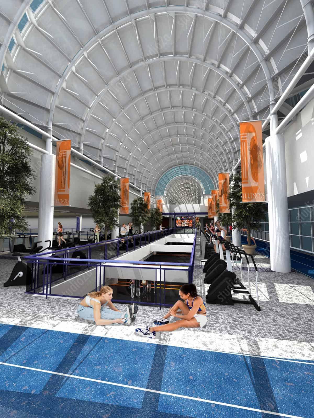Rec Center Design Renderings U Of Illinois Rec Cetner