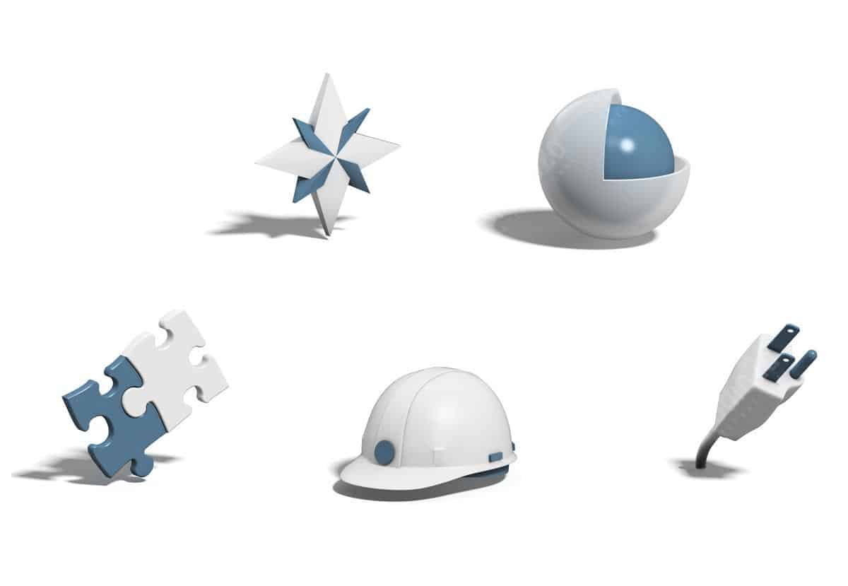 3d graphic icons