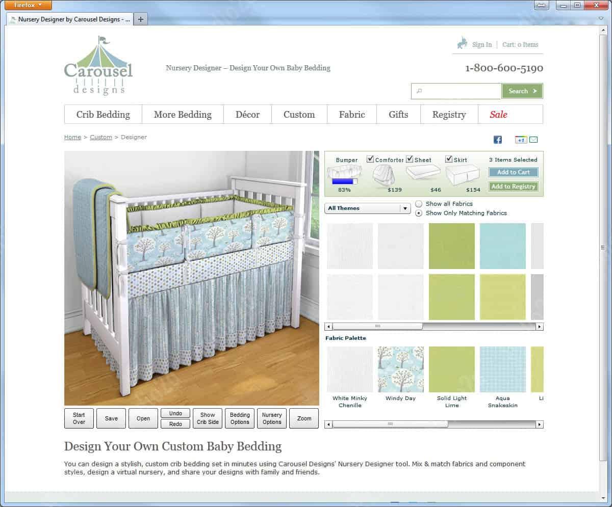 3d interactive rendering bedding