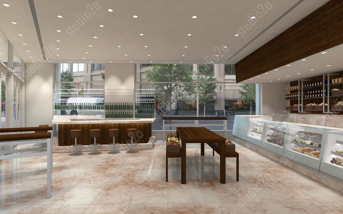 3d interior rendering retail NYC