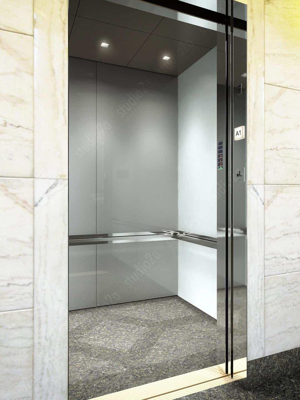 3d interior design rendering elevator cab