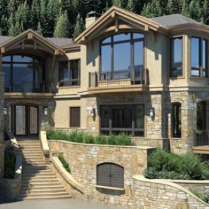 3d rendering Aspen residence Colorado