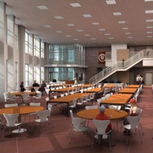 3d architectural rendering interior school illinois