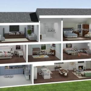 3d interactive rendering Casa