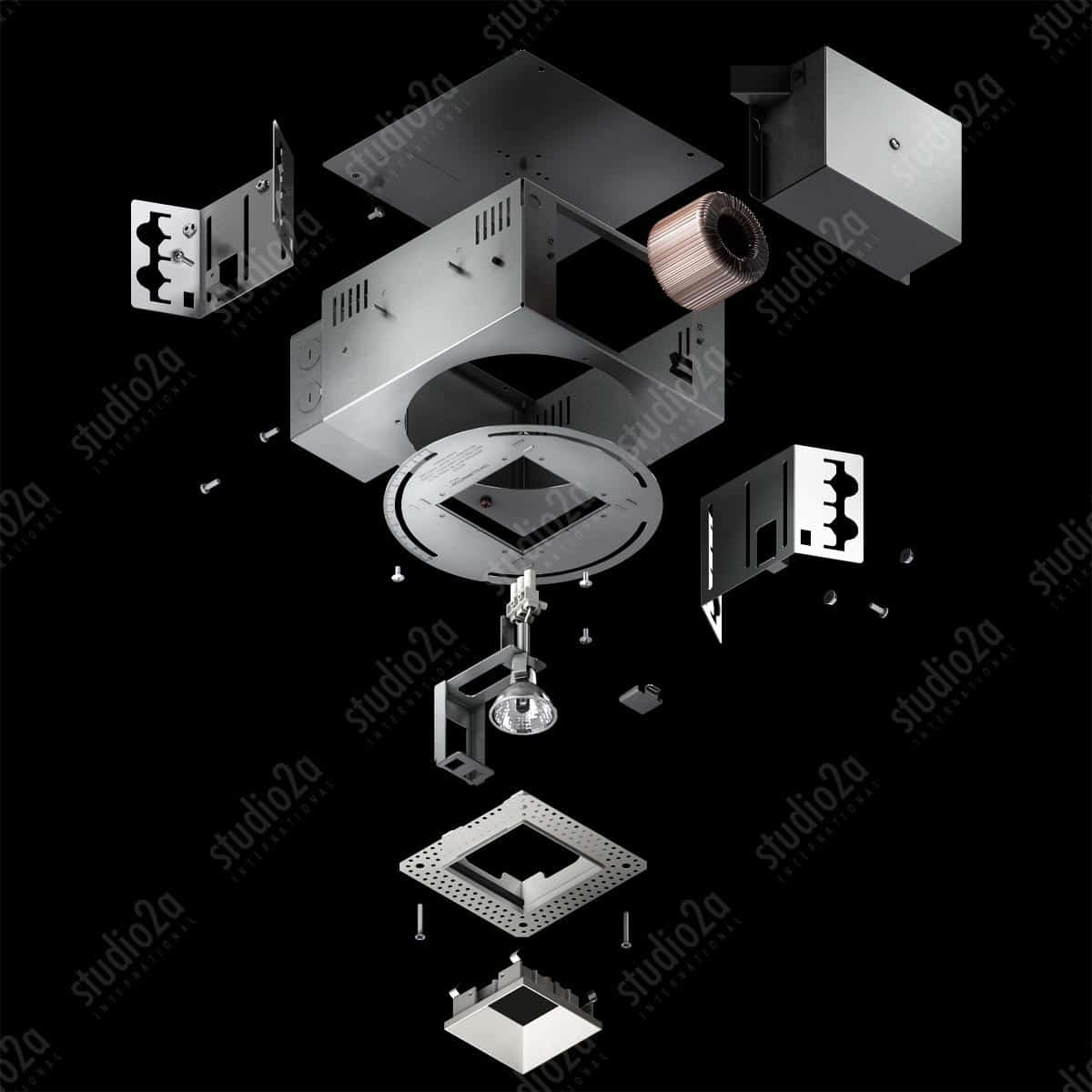 3d product rendering fixture illustration chicago